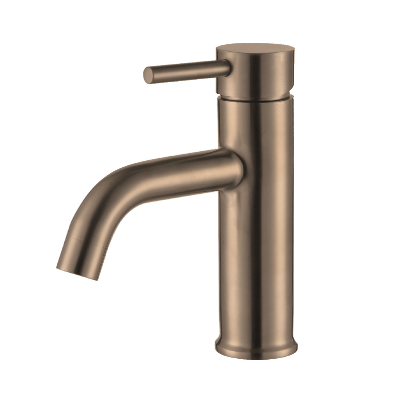 JD-SB33RS Deck mounted ss304 rose gold basin mixer tap