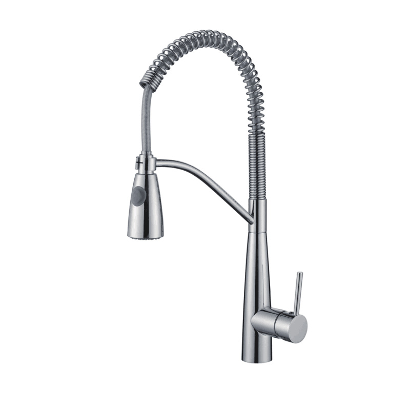 Hot selling chrome DZR brass spring kitchen mixer tap WK1092