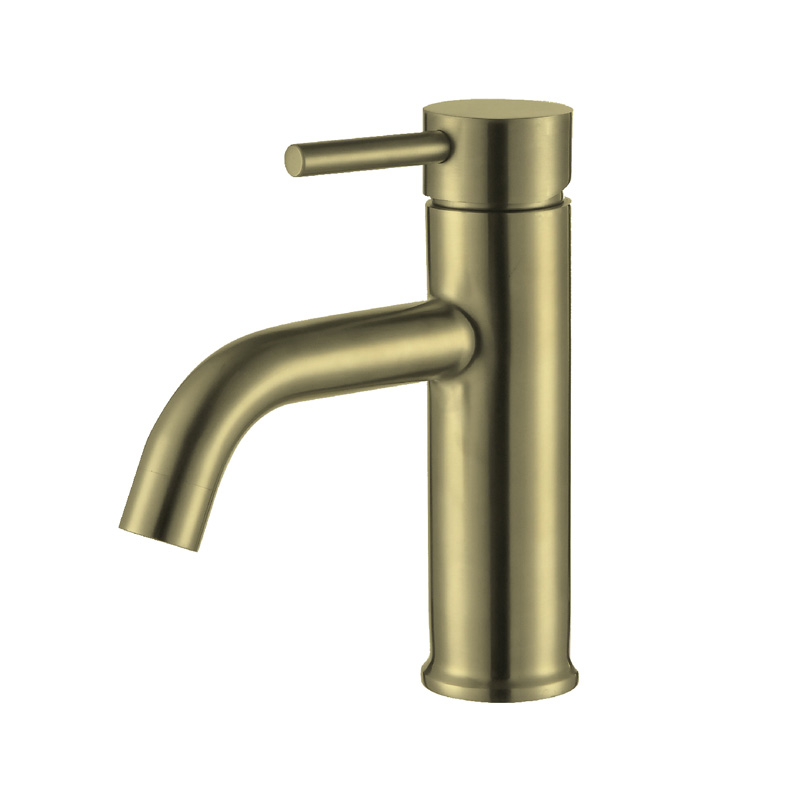 JD-SB33GS Deck mounted ss304 gold brushed basin mixer tap